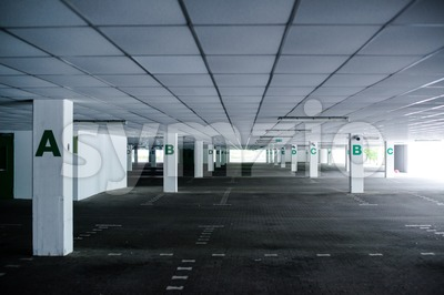 abandoned car park Stock Photo