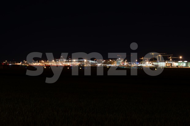 Airport Terminal of Stuttgart (Germany) - wide angle shot Stock Photo