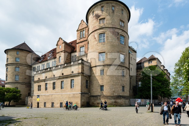 Altes Schloss - Old Castle - in Stuttgart, Germany Stock Photo