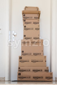Amazon.com delivery Stock Photo