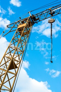 Industrial construction crane Stock Photo