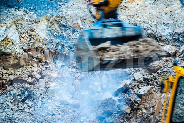 abstract - excavator Stock Photo