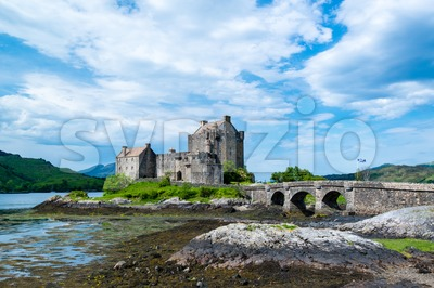 Famous Eilean Donan Castle in the highlands of Scotland Stock Photo
