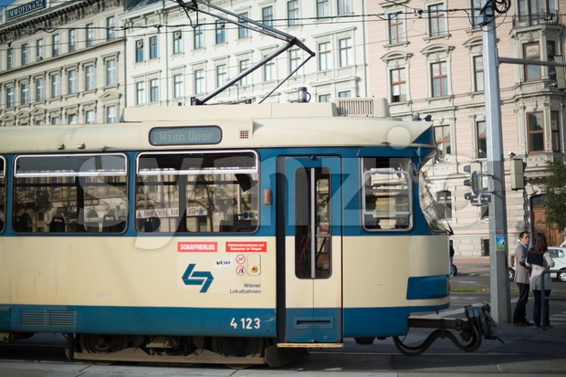 Vienna Tram Stock Photo