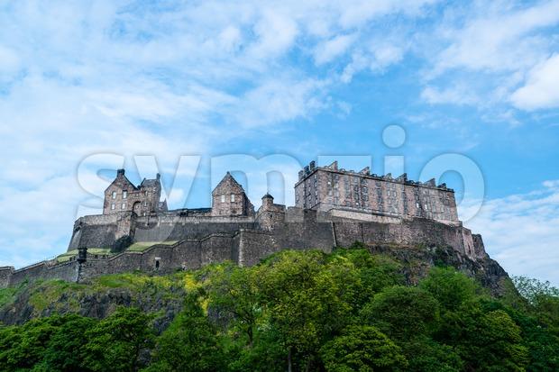 Famous Edinburgh Castle Stock Photo
