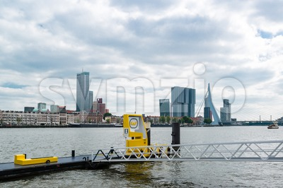 Rotterdam Water Taxi Stop Stock Photo