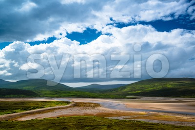 Amazing Scottish Landscape Stock Photo