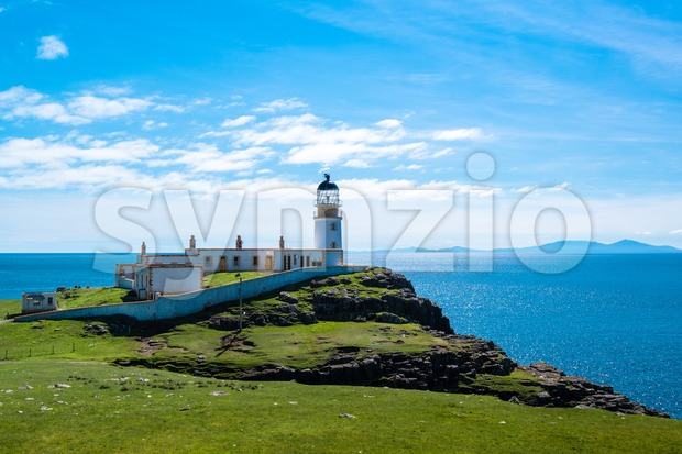 Lighhouse at Point Neist, Scotland Stock Photo