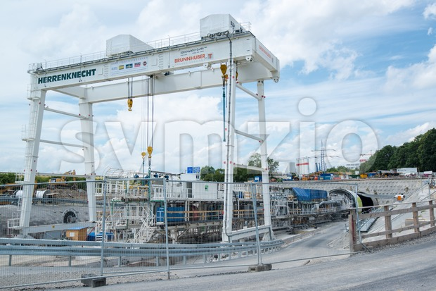Stuttgart21 tunnel drilling site Stock Photo