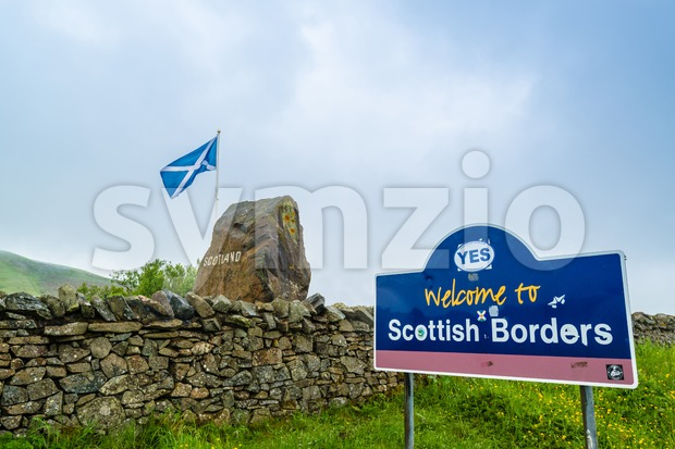 Politics on the Scottish Borders Stock Photo