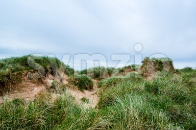 Sand dunes at Balnakeil Bay Stock Photo