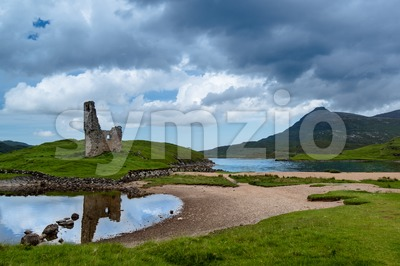 Ardvreck Castle Stock Photo