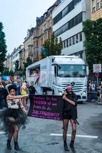 Political statement on Christopher Street Day 2014 in Stuttgart, Germany Stock Photo