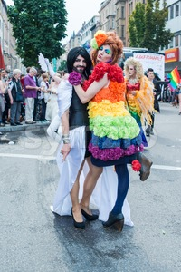 Participants of Christopher Street Day 2014 in Stuttgart, Germany Stock Photo