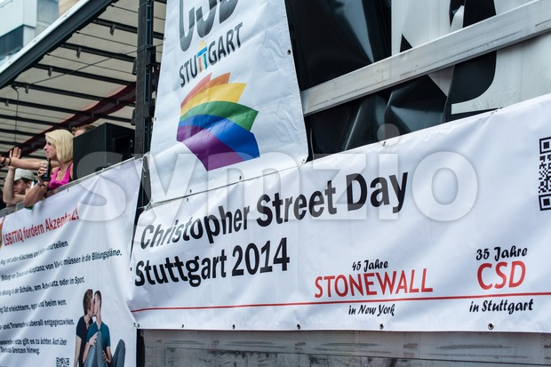 Christopher Street Day 2014 in Stuttgart, Germany Stock Photo