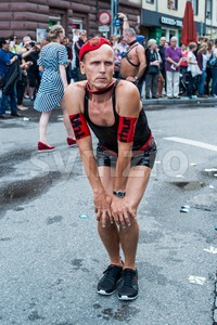 Gorgeous participant of Christopher Street Day 2014 in Stuttgart, Germany Stock Photo