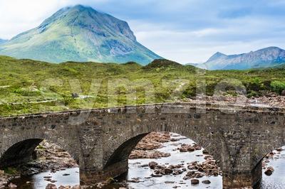 Bridge at Sligachan in Scotland Stock Photo