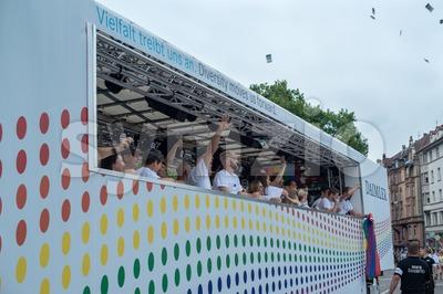 Daimler supporting Christopher Street Day 2014 in Stuttgart, Germany Stock Photo