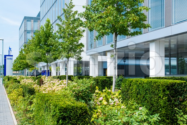 EnBW main offices in Stuttgart,Germany Stock Photo