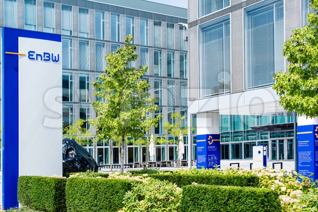 STUTTGART, GERMANY - JULY 27th, 2014 – The head offices called EnBW City of energy provider EnBW (Energie Baden Württemberg) ...