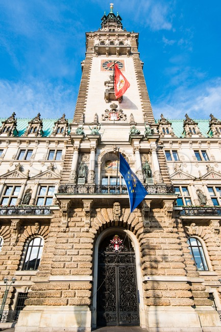 Townhall of Hamburg Stock Photo