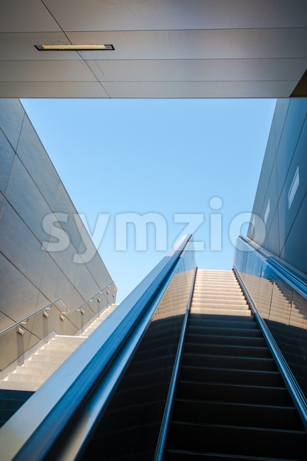 modern escalator Stock Photo
