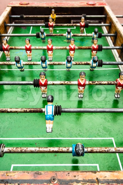 old table soccer game Stock Photo