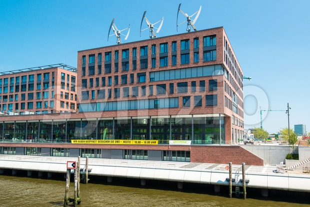 Greenpeace German Headquarters in Hamburg Stock Photo
