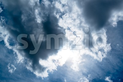 Beautiful dramatic sky Stock Photo