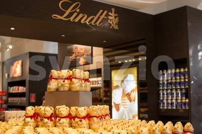 Lindt Chocolate Boutique in Vienna, Austria Stock Photo