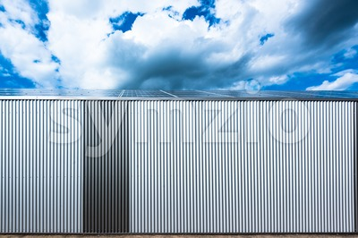 warehouse with solar panels Stock Photo