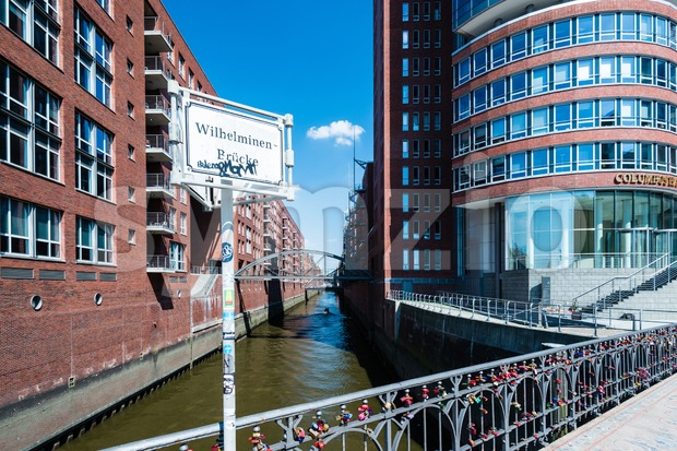 Hafencity and Speicherstadt in Hamburg Stock Photo