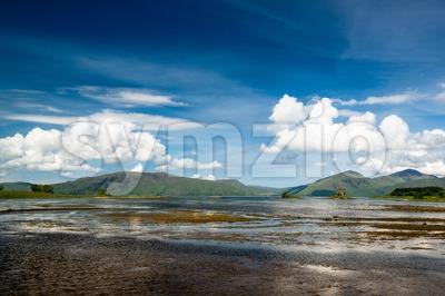 Stalker Castle in amazing landscape in Scotland Stock Photo