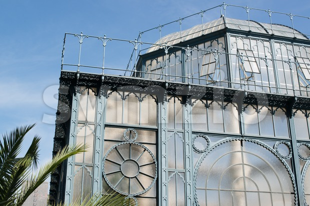 Gorgeous old greenhouse in Wilhelma botanical gardens in Stuttgart, Germany