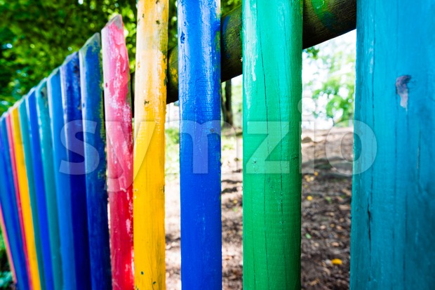 kindergarten fence Stock Photo