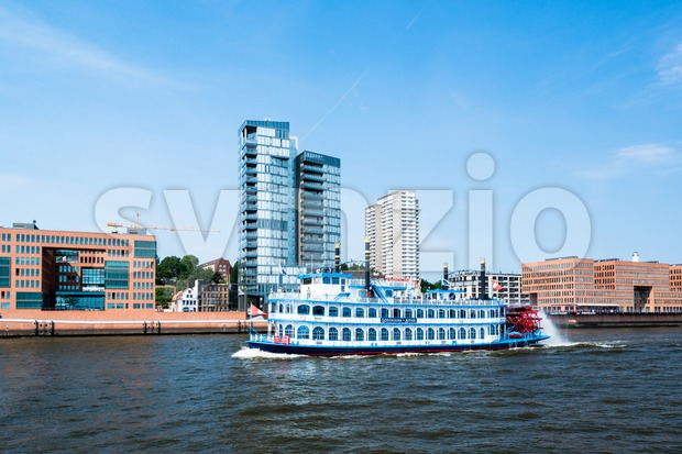 Paddle Steamer Luisiana Star in Hamburg Stock Photo