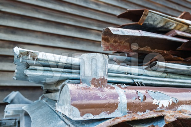 Scrap metal waste Stock Photo