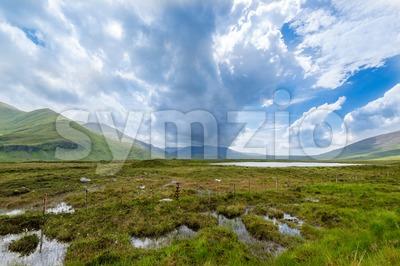 Beautiful Scottish Landscape near Scourie Stock Photo