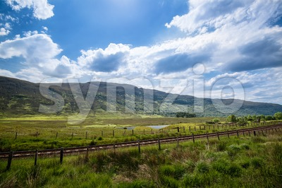 Beautiful Scottish Landscape Stock Photo