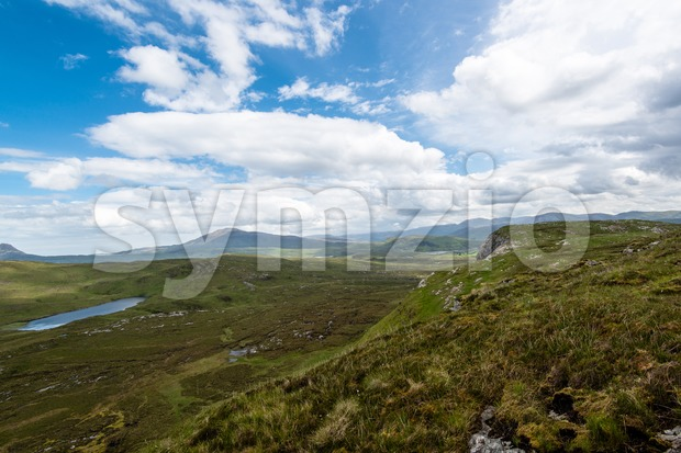 Knockan Crag in Scotland Stock Photo