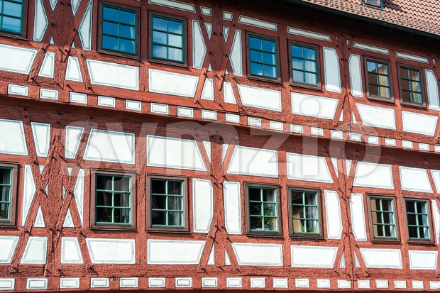 Half timbered house Stock Photo