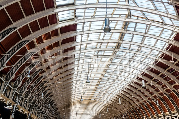 Wrought iron roof structure of Paddington railway station