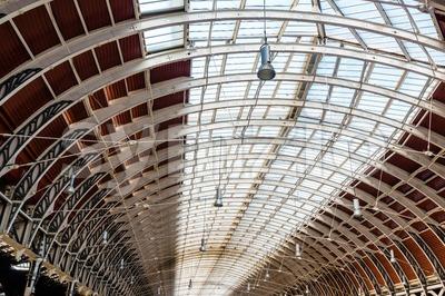 railway station roof Stock Photo