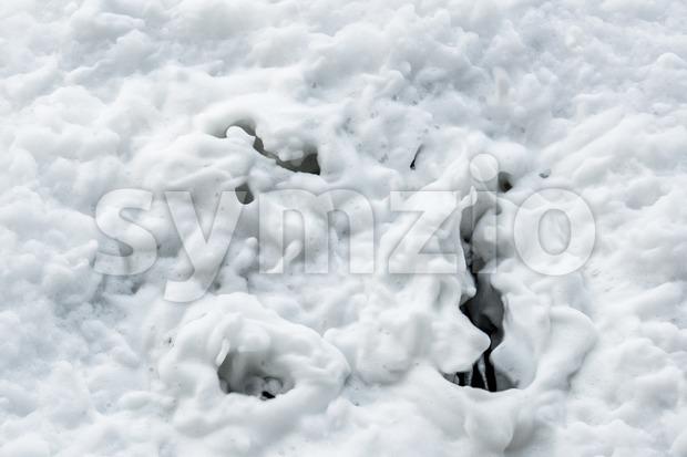 Foam draining down the sink