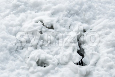 Draining foam Stock Photo