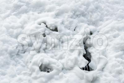 Draining foam Stock Photo