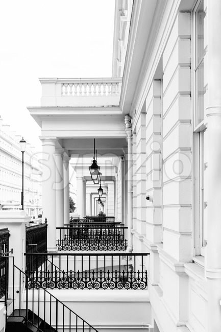 Typical Victorian facades in London Stock Photo