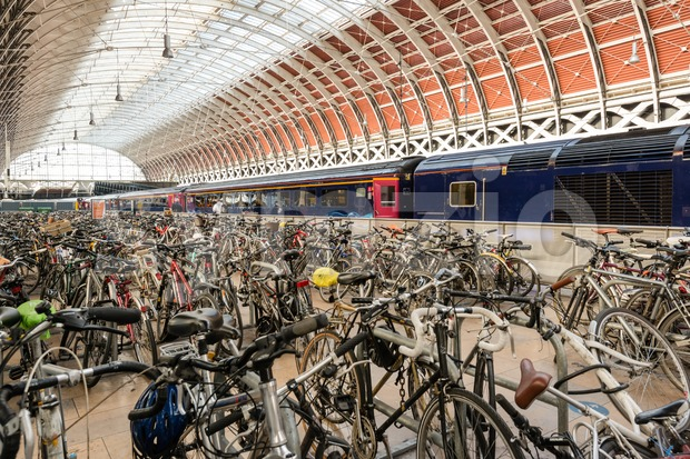 Bikes at Paddington Station Stock Photo