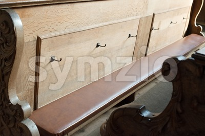 Church Benches Stock Photo