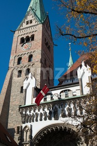 Cathedral of Augsburg Stock Photo